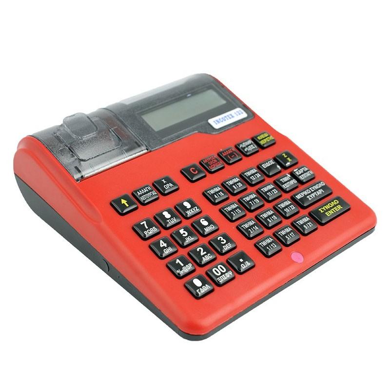 Ταμειακή Μηχανή Incotex 133 Κόκκινη - πληρωμή έως 6 άτοκες δόσεις