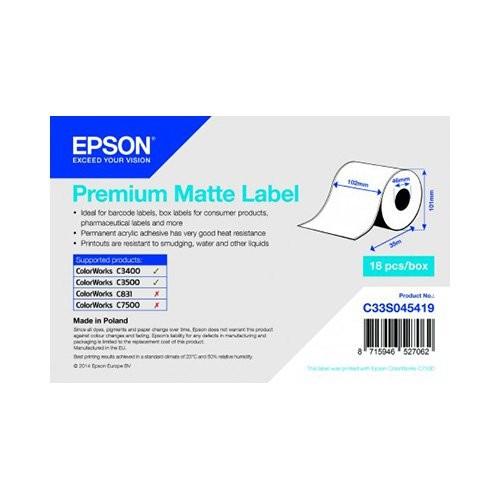 Epson ρολό ετικέτας, κανονικό χαρτί, 102mm (C33S045419)
