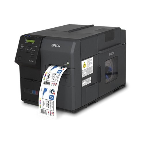 Epson ColorWorks C7500, cutter, οθόνη, USB, Ethernet, μαύρο (C31CD84012)
