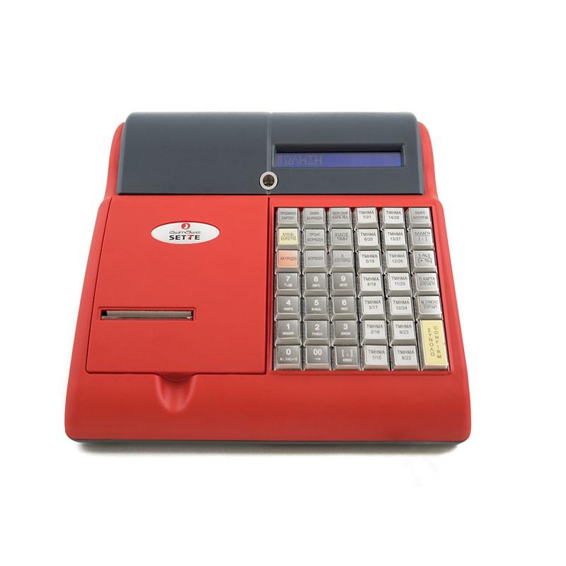 Ταμειακή Μηχανή ADMATE SETTE Κόκκινη - πληρωμή έως 6 άτοκες δόσεις