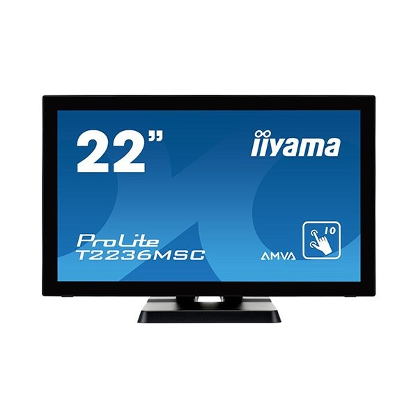 iiyama ProLite T2236MSC, 54.6cm (21.5''), projected capacitive, 10 TP, full HD, μαύρο (T2236MSC-B2)