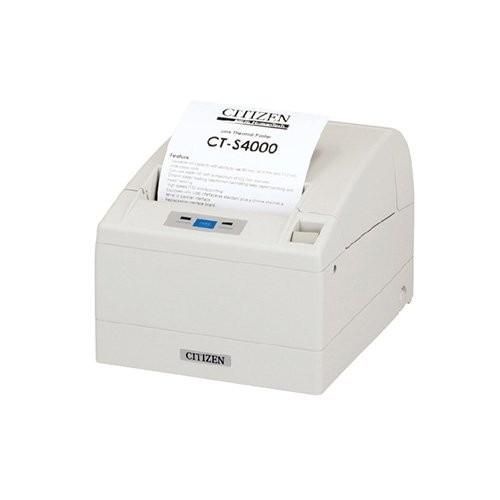 Citizen CT-S4000/L, USB, RS232, 8 dots/mm (203 dpi), cutter, λευκό (CTS4000RSEWHL)