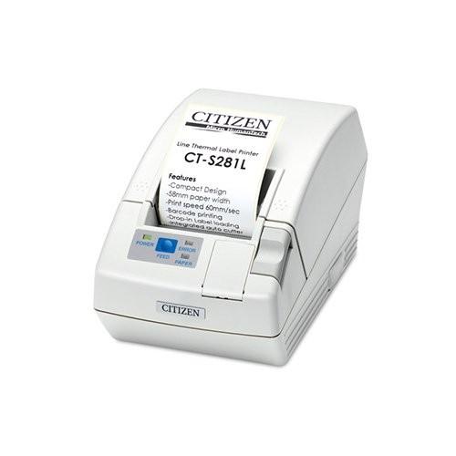 Citizen CT-S281L, USB, 8 dots/mm (203 dpi), cutter, λευκό (CTS281UBEWHPLM1)