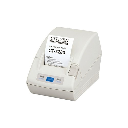 Citizen CT-S280, RS232, 8 dots/mm (203 dpi), λευκό (CTS280RSEWH)