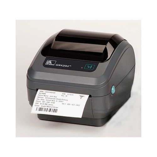 Zebra GX420d rev2, 8 dots/mm (203 dpi), peeler, οθόνη, EPL, ZPL, print server (wifi) (GX42-202721-000)
