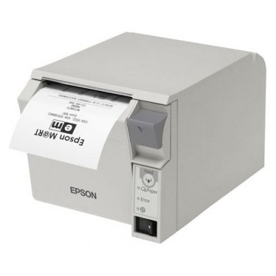 Epson TM-T70II, USB, Ethernet,γκρι (C31CD38023B0)