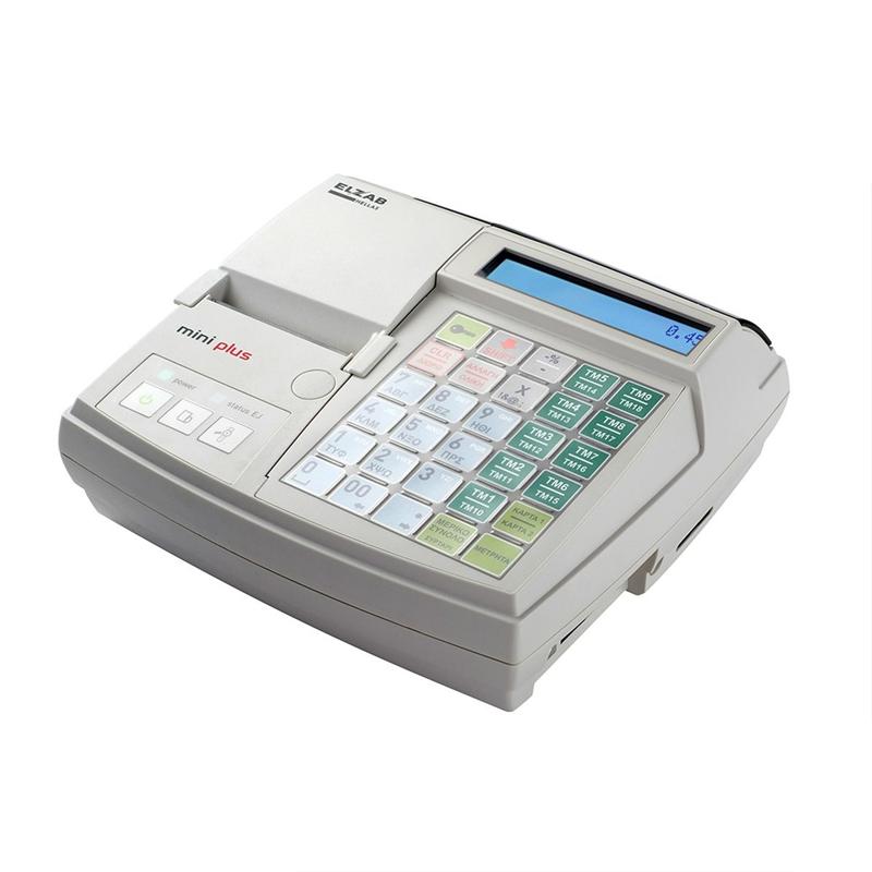 Ταμειακή Μηχανή ELZAB Mini Plus Λευκή - πληρωμή έως 6 άτοκες δόσεις