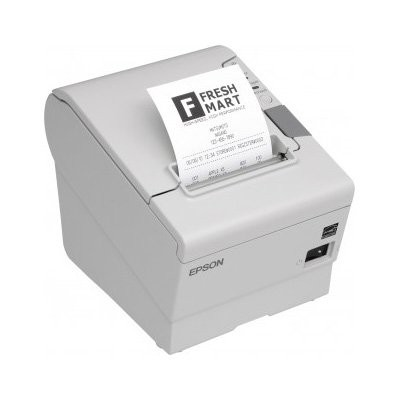 Epson TM-T88V, USB, RS232, λευκό (C31CA85044A0)