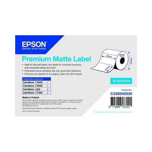 Epson ρολό ετικέτας, κανονικό χαρτί, 76x127mm (C33S045535)