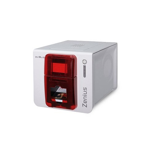 Evolis Zenius Expert, μονής όψης, 12 dots/mm (300 dpi), USB, Ethernet, smart, RFID, κόκκινο (ZN1H0ELYRS)
