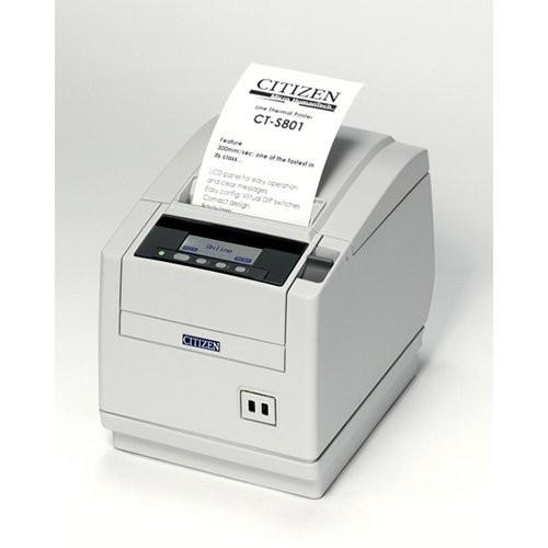 Citizen CT-S801, USB, 8 dots/mm (203 dpi), cutter, οθόνη, λευκό (CTS801UNNEWHP)