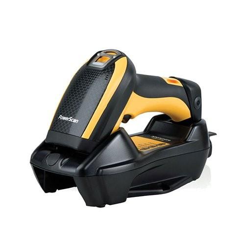 Datalogic PowerScan PBT9500, bluetooth, 2D, HD, DPM, kit (USB), αφαιρούμενη μπαταρία, μαύρο, κίτρινο (PBT9500-DPMRBK10EU)